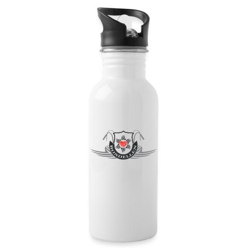 Rondellen tribal hart - Vattenflaska med integrerat sugrör