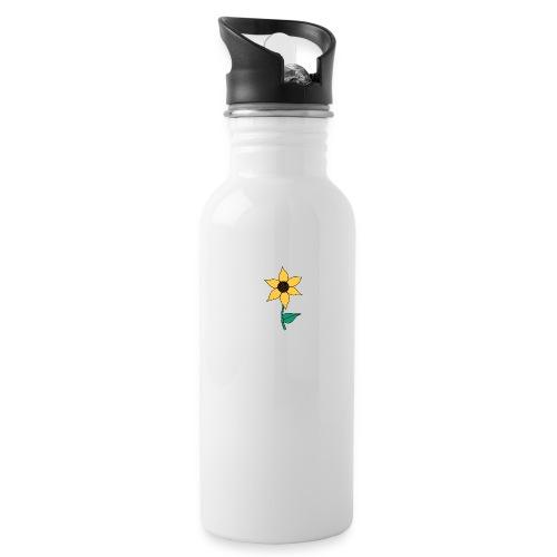 Sunflower - Drinkfles met geïntegreerd rietje