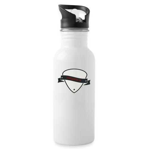 tasse und taschen etc mit logo - Trinkflasche mit integriertem Trinkhalm