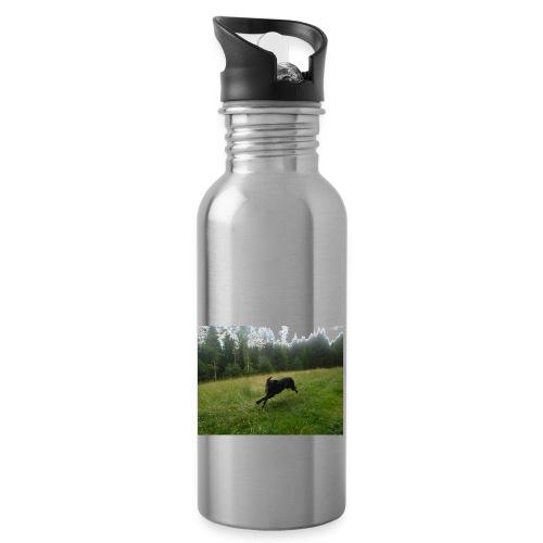 DSCF0513 JPG - Trinkflasche mit integriertem Trinkhalm