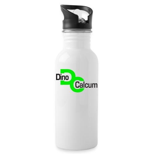 DC Logo freigestellt - Trinkflasche mit integriertem Trinkhalm