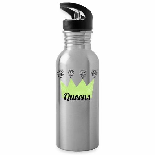 logo_queens_4_vihr_musta - Juomapullo, jossa pilli