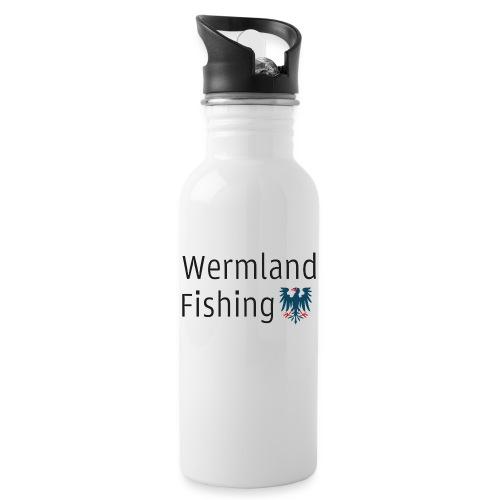 Wermland Fishing (Standard blue) - Vattenflaska med integrerat sugrör