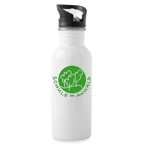 logo kreis vm - Trinkflasche mit integriertem Trinkhalm