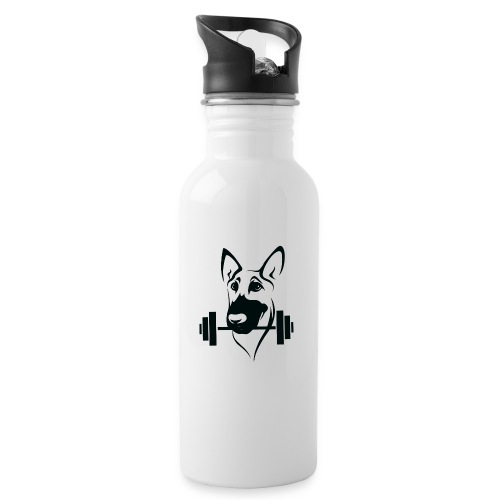 Weightlifting Doggo - Water bottle with straw