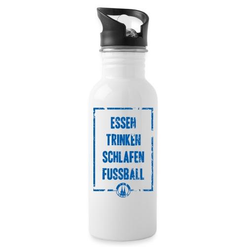 TBV Lemgo Fussball - Trinkflasche mit integriertem Trinkhalm