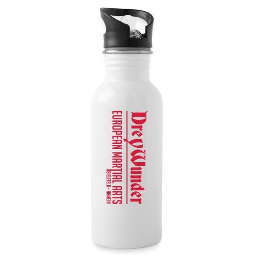 Drey Wunder Martial Arts - 2019 - RED - Hoch - Trinkflasche mit integriertem Trinkhalm