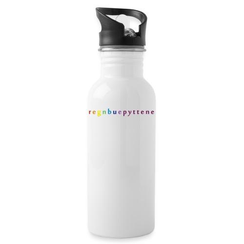 Regnbuepyttene Logo - Drikkeflaske med integrert sugerør