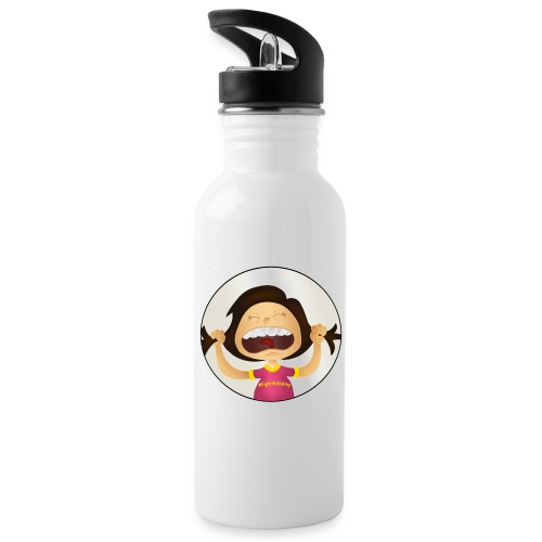 Amy's motto (image only) - Water bottle with straw