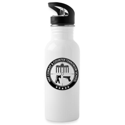 CACTS weiss - Trinkflasche mit integriertem Trinkhalm