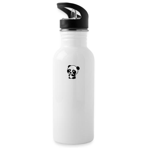 Panda - Water bottle with straw
