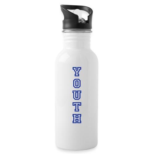 AIYCB_YOUTH_hochblauweiss - Trinkflasche mit integriertem Trinkhalm