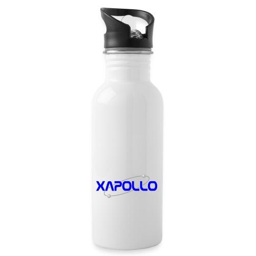 xapollo logo gif - Trinkflasche mit integriertem Trinkhalm