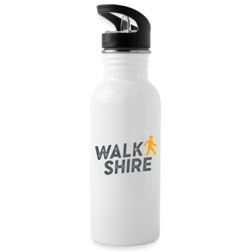 Walkshire logo orange person - Water bottle with straw