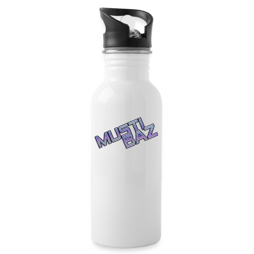 Mustibaz - Trinkflasche mit integriertem Trinkhalm