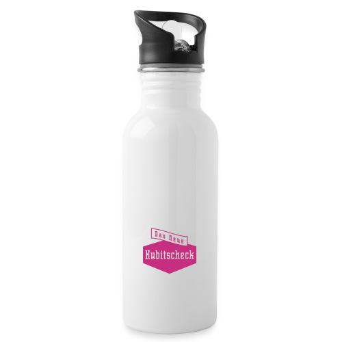 rz logo kubitscheck magenta - Trinkflasche mit integriertem Trinkhalm