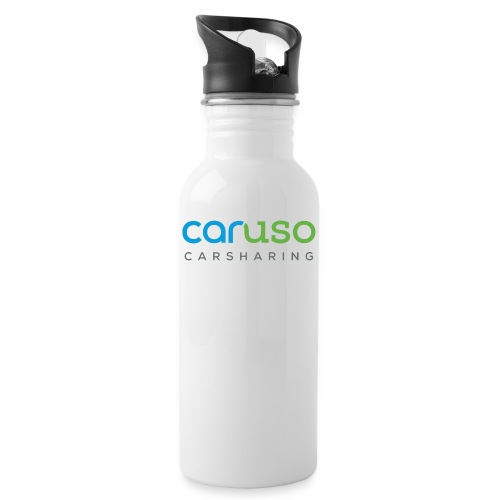 Caruso Carsharing Logo - Trinkflasche mit integriertem Trinkhalm