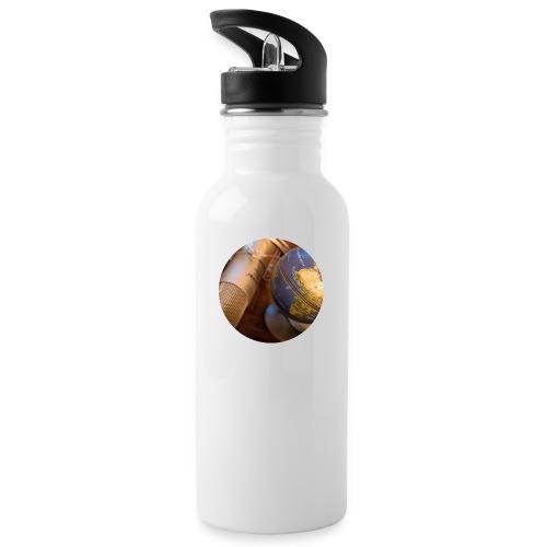 logo round png - Trinkflasche mit integriertem Trinkhalm
