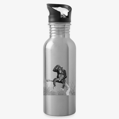 Monkey Music - Water bottle with straw