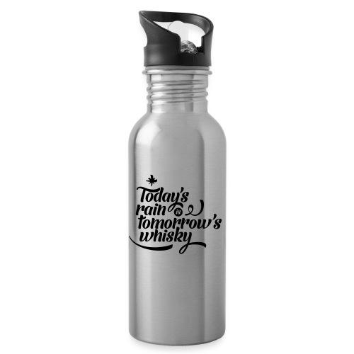 WWD Vert Logo - Water bottle with straw