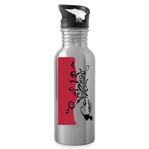 schlof logo farb - Trinkflasche mit integriertem Trinkhalm