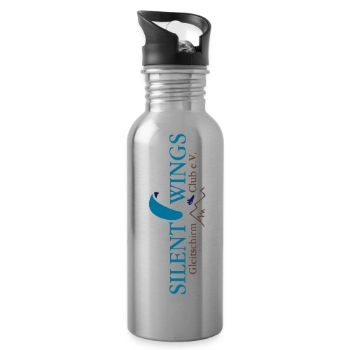 Silent Wings Logo 3 farbig - Trinkflasche