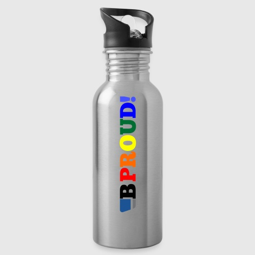 B-ProudrainbowSpread - Water bottle with straw