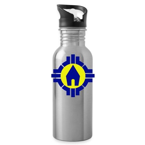 Schoenstatt Logo - Trinkflasche mit integriertem Trinkhalm