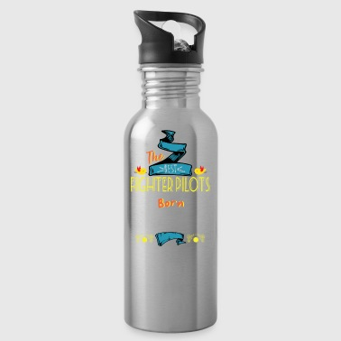 Best Fighter Pilots are Born in January Gift Idea - Water Bottle