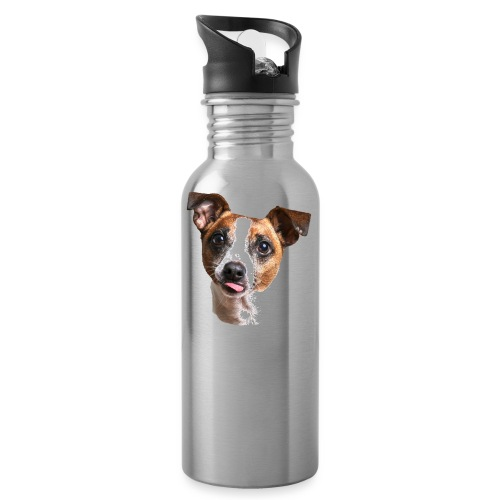 Jack Russell - Water bottle with straw