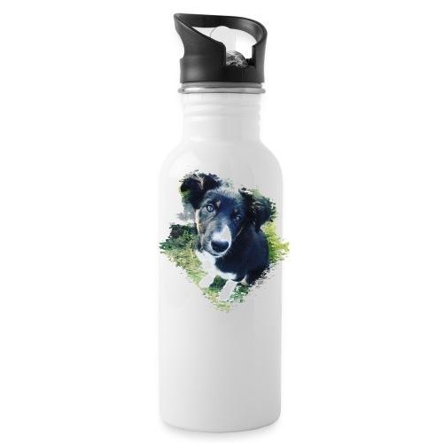 colliegermanshepherdpup - Water Bottle