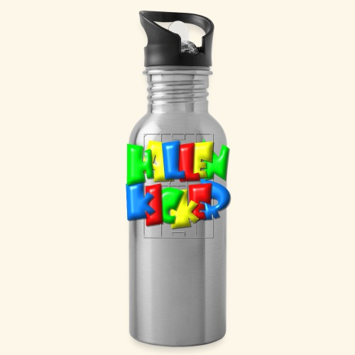 Hallenkicker im Fußballfeld - Balloon-Style - Trinkflasche