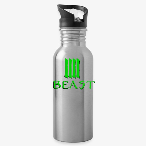 Beast Green - Water bottle with straw