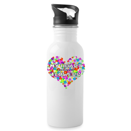 My Heart is full of Flowers - Trinkflasche