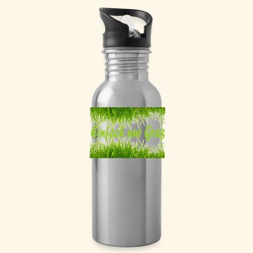 einfach nur gras2 - Trinkflasche
