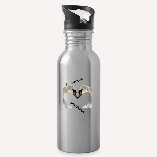 I love swans - Trinkflasche