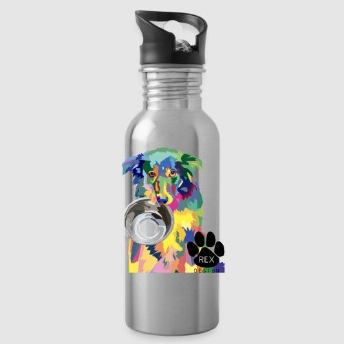 #AdoptDontShop - Water bottle with straw