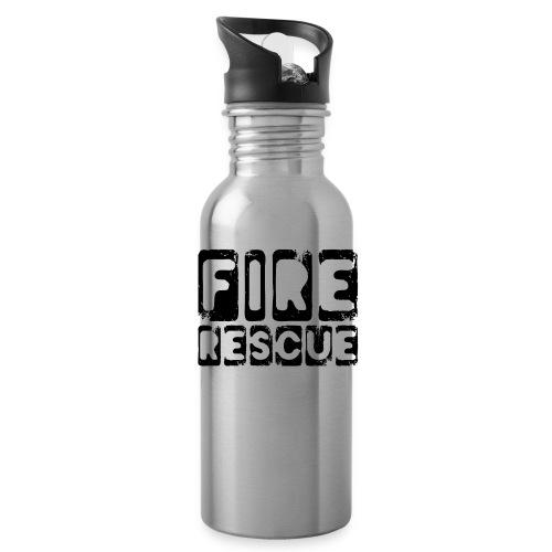 Fire Rescue Feuerrettung Feuerwehr Retter - Trinkflasche