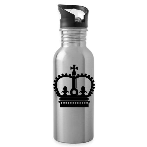 Krone Symbol König Kaiser Königin Mittelalter - Trinkflasche