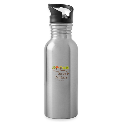 Save Nature - Rette die Natur - Earth Day - Trinkflasche