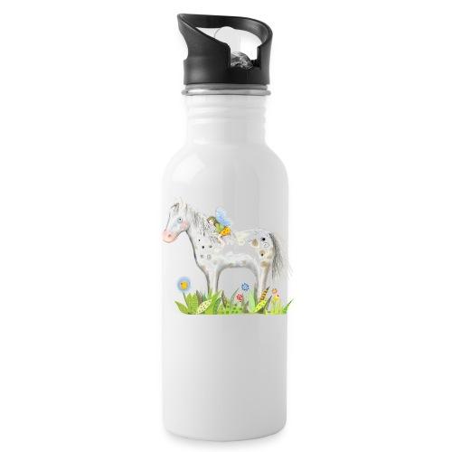 Fee. Das Pferd und die kleine Reiterin. - Trinkflasche