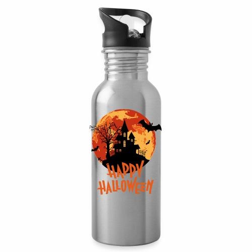 Bloodmoon Haunted House Halloween Design - Trinkflasche