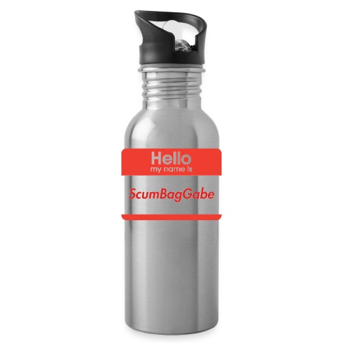 Hello My Name Is ScumBagGabe - Water Bottle
