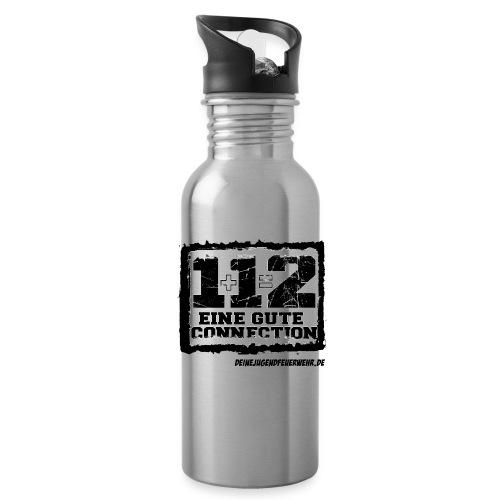 1+1=2 Logo - Trinkflasche
