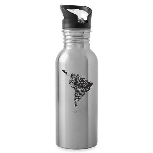 suedamerika2 png - Trinkflasche mit integriertem Trinkhalm