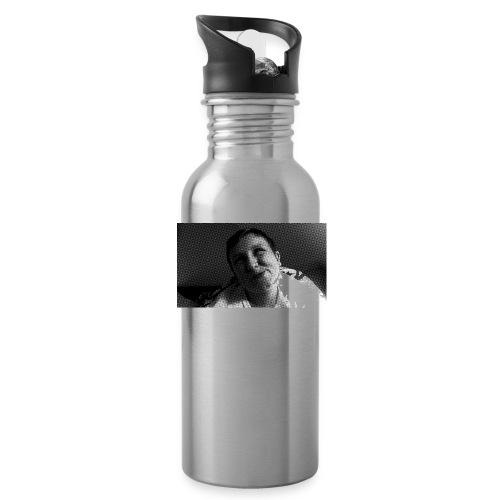 Basse Tshirt - Drikkeflaske med integreret sugerør