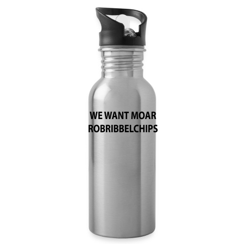 We want Moar RobRibbelchips T-Shirt (Male) - Water Bottle