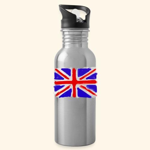 British flag in watercolours - Vattenflaska