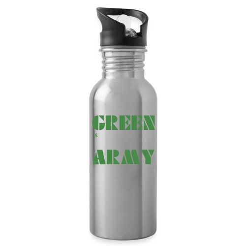 GREEN & WHITE ARMY - Water Bottle