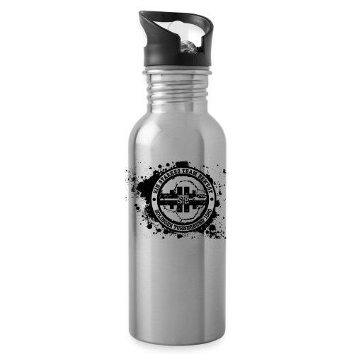 STB Splash Logo schwarz - Trinkflasche